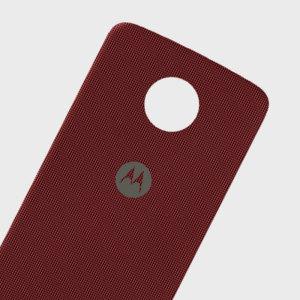 Official Motorola Moto Z Shell Nylon Fabric Back Cover - Red