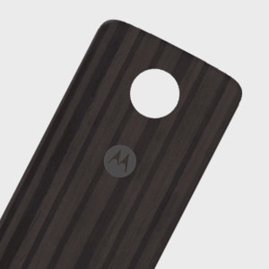 Official Motorola Moto Z Shell Wood Style Back Cover - Charcoal Ash