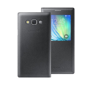 Official Samsung Galaxy A7 2015 S View Flip Cover - Black