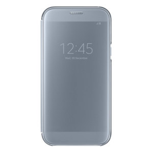 Official Samsung Galaxy A7 2017 Clear View Stand Cover Case - Blue