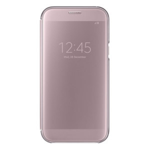 Official Samsung Galaxy A7 2017 Clear View Stand Cover Case - Pink