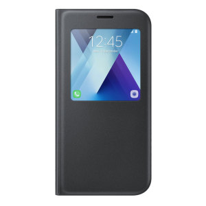 Official Samsung Galaxy A7 2017 S View Premium Cover Case - Black