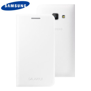 Official Samsung Galaxy J1 2015 Flip Cover - White