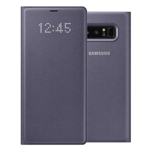 Official Samsung Galaxy Note 8 LED View Cover Case - Orchid Grey