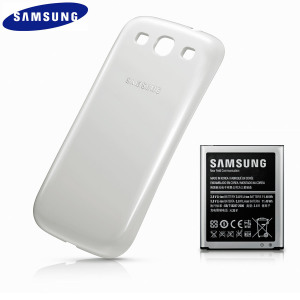 Official Samsung Galaxy S3 Extended Battery Kit - 3000mAh - White