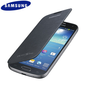 Official Samsung Galaxy S4 Mini Flip Case Cover - Black