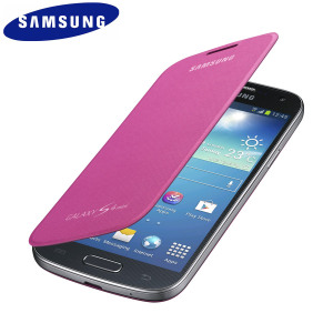 Official Samsung Galaxy S4 Mini Flip Case Cover - Pink