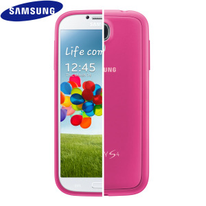 Official Samsung Galaxy S4 Protective Hard Case Cover Plus - Pink