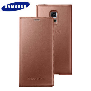 Official Samsung Galaxy S5 Mini Flip Case Cover - Rose Gold