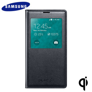 Official Samsung Galaxy S5 S View Wireless Charging Cover - Black
