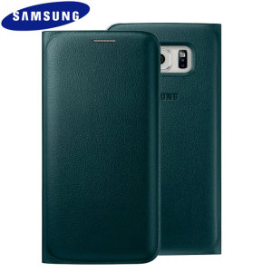 Official Samsung Galaxy S6 Edge Flip Wallet Cover - Green