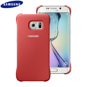 Official Samsung Galaxy S6 Edge Protective Cover Case - Coral