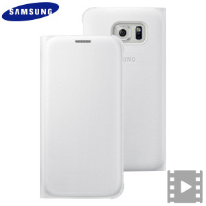 Official Samsung Galaxy S6 Flip Wallet Cover - White