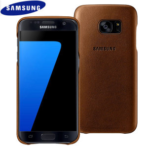 Official Samsung Galaxy S7 Leather Cover - Brown