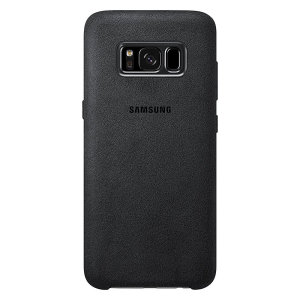 Official Samsung Galaxy S8 Alcantara Cover Case - Silver / Grey