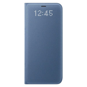 Official Samsung Galaxy S8 LED Flip Wallet Cover - Blue