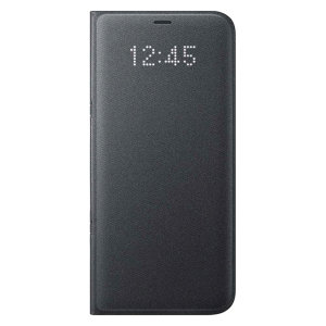 Official Samsung Galaxy S8 Plus LED Flip Wallet Cover - Black
