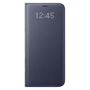 Official Samsung Galaxy S8 Plus LED Flip Wallet Cover - Violet