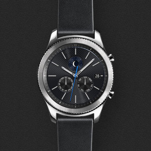 Official Samsung Gear S3 Leather Classic Strap - Black