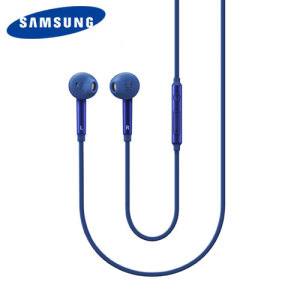 Official Samsung In-Ear Stereo Headset with Mic and Controls - Blue