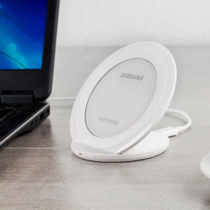Official Samsung Wireless Adaptive Fast Charging Stand - White