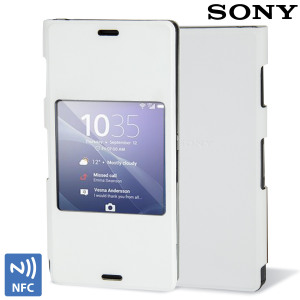 Official Sony Xperia Z3 Style Cover with Smart Window - White