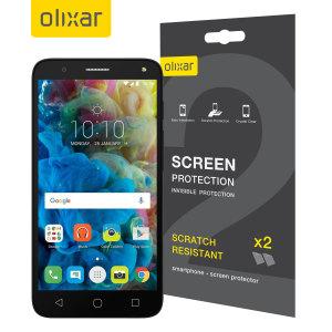 Olixar Alcatel POP 4 Plus Screen Protector 2-in-1 Pack