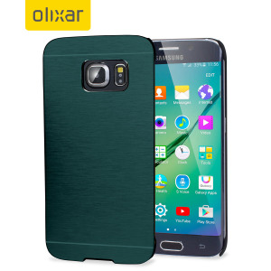 Olixar Aluminium Samsung Galaxy S6 Edge Shell Case - Emerald Green