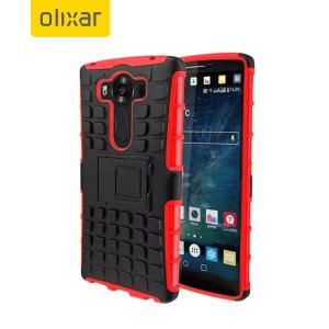 ArmourDillo Hybrid Protective LG V10 Case - Red