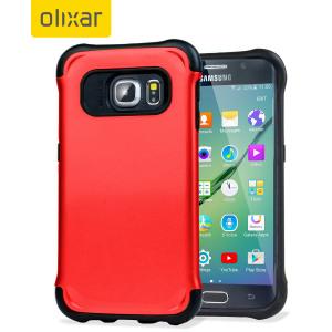 Olixar ArmourLite Samsung Galaxy S6 Edge Case - Red