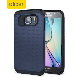 Olixar ArmourShield Samsung Galaxy S6 Case - Indigo Blue