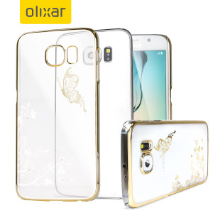 Olixar Butterfly Samsung Galaxy S6 Shell Case - Gold / Clear