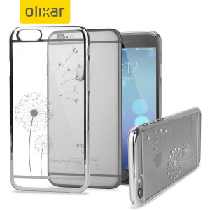Olixar Dandelion iPhone 6S Plus / 6 Plus Shell Case - Silver / Clear