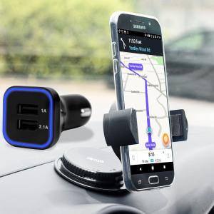 Olixar DriveTime Samsung Galaxy A7 2017 Car Holder & Charger Pack