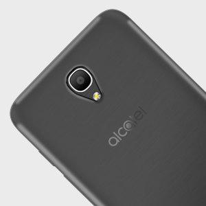 Olixar FlexiShield Alcatel POP 4 Plus Gel Case - Smoke Black