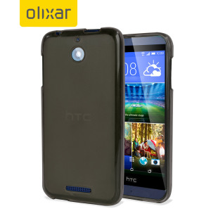 Olixar FlexiShield HTC Desire 510 Case - Smoke Black