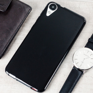 Olixar FlexiShield HTC Desire 825 Gel Case - Solid Black