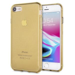 Olixar FlexiShield iPhone 7 Gel Case - Gold