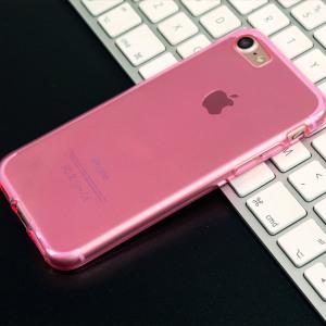 Olixar FlexiShield iPhone 7 Gel Case - Pink