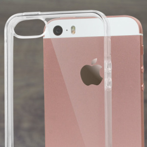 Olixar FlexiShield iPhone SE Gel Case - 100% Clear