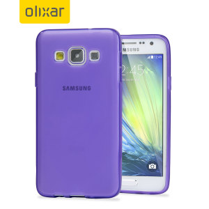 Olixar FlexiShield Samsung Galaxy A3 2015 Case - Purple