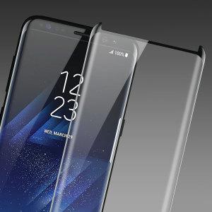 Olixar Galaxy S8 Plus Case Compatible Glass Screen Protector - Black