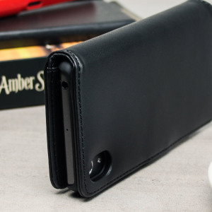 Olixar Genuine Leather Sony Xperia X Performance Wallet Case - Black