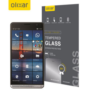 Olixar HP Elite x3 Tempered Glass Screen Protector - Black