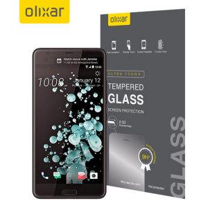 olixar htc u ultra tempered glass screen protector the