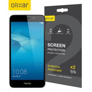 Olixar Huawei Honor 5C Screen Protector 2-in-1 Pack