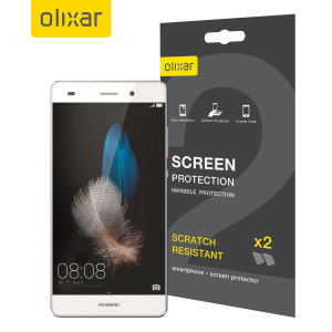Olixar Huawei P8 Lite Screen Protector 2-in-1 Pack