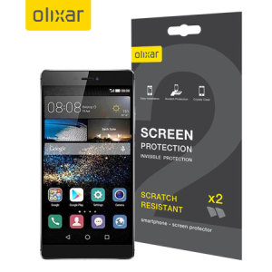 Olixar Huawei P8 Screen Protector 2-in-1 Pack