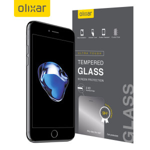 Olixar iPhone 7 Plus Case Compatible Tempered Glass Screen Protector