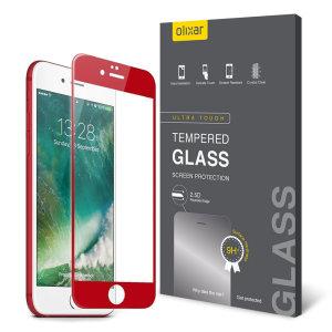 Olixar iPhone 7 Plus Edge to Edge Glass Screen Protector - Red